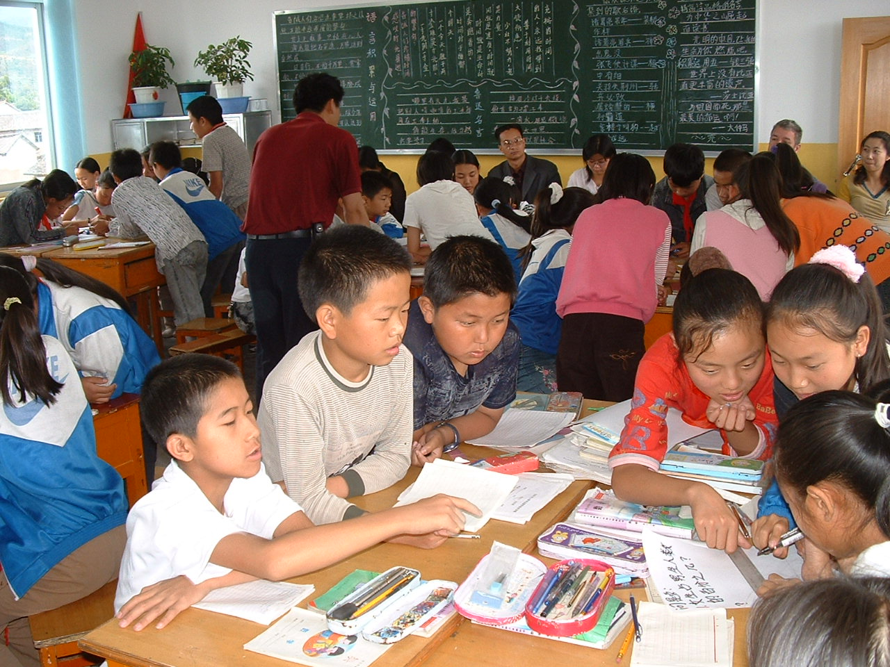 Middle school classroom in Yunnan education project